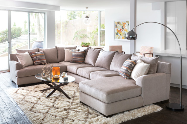 Group therapy transitional living room los angeles for Transitional living room furniture