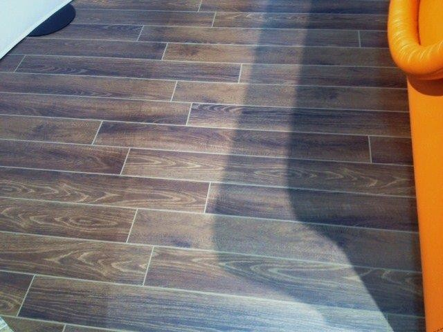 Grouted Vinyl Plank Modern Living Room Chicago By