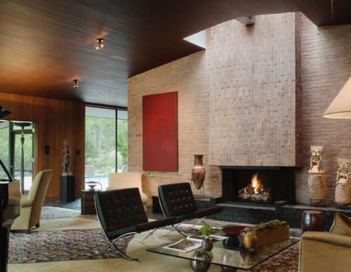 Grunsfeld Shafer Architects › Fifties Love Affair modern living room