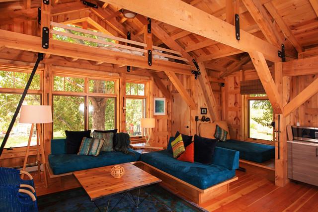 Guest House Art Studio Loft Space Rustic Living Room