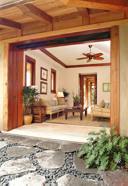 Guest House Living Room Tropical Living Room Hawaii