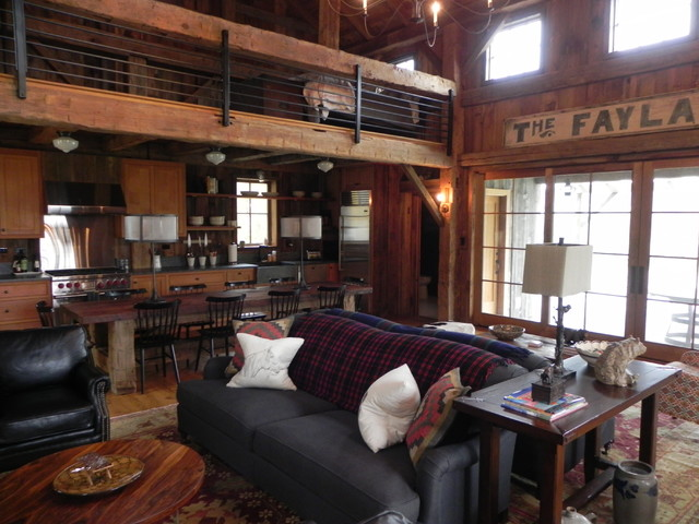 Guest/Pool House rustic-living-room