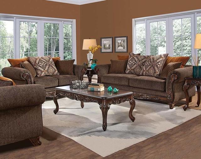 Gunslinger Bark Sofa And Loveseateclectic Living Room Columbus