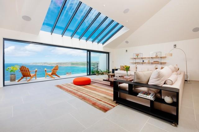 Gwel An Treth - Modern - Living Room - Cornwall - by Perfect Stays