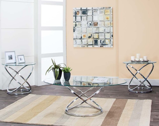 Gyro 3 Piece Table Set Eclectic Living Room Columbus