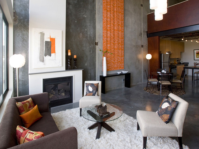Industrial Living Room Design industrial living room. loft living room design with modern