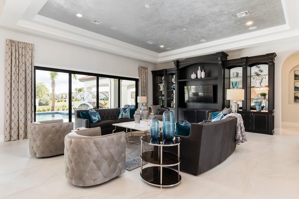 Living room - transitional living room idea in Orlando