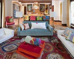 Hacienda Chic Residence rustic-living-room