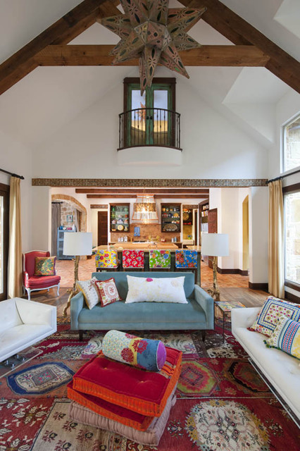 Hacienda chic residence southwestern living room for Eclectic chic living room