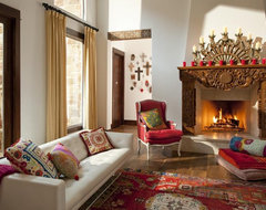 Hacienda Chic Residence eclectic-living-room
