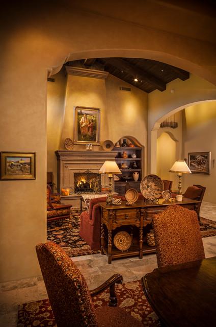 Hacienda Mediterranean Living Room Phoenix By Design Directives Llc