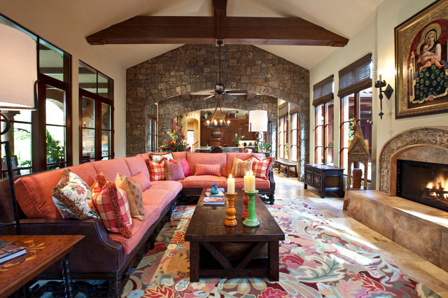 Hacienda Mission Casual Southwestern Living Room
