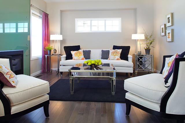 Hadleigh Show Home In Kincora NW Calgary Contemporary Living Room Cal