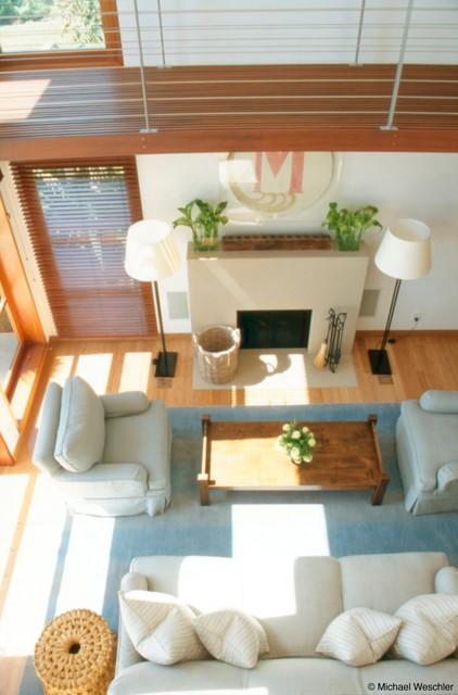 Hall contemporary-living-room