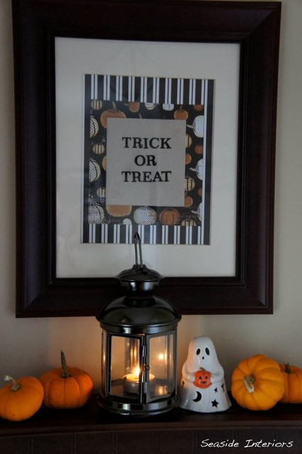 Halloween Decor eclectic-living-room