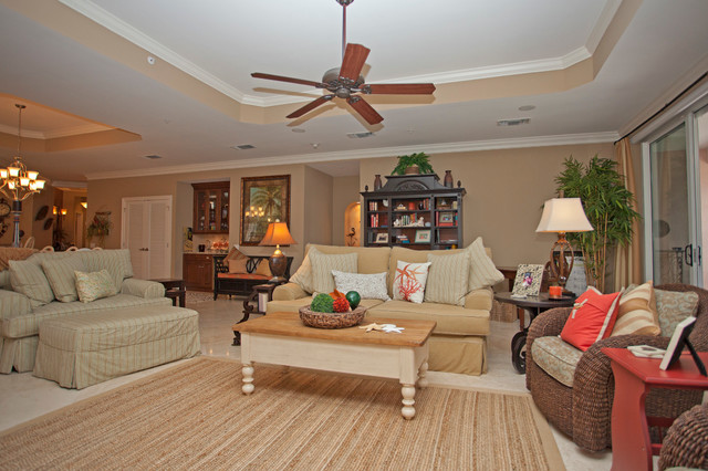 Hammock beach condo beach style living room for Living room hammock