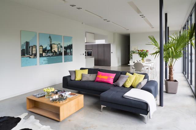 Hampstead New Build modern-living-room