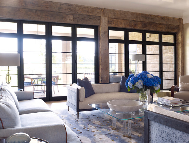 Hampton Beach House beach-style-living-room