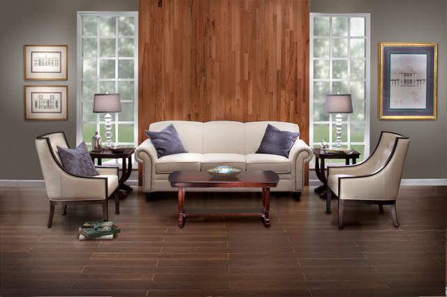 Hampton Hickory Laminate Transitional Living Room