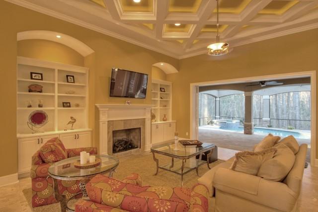 Hampton Lake - Palmetto Cove Model mediterranean-living-room