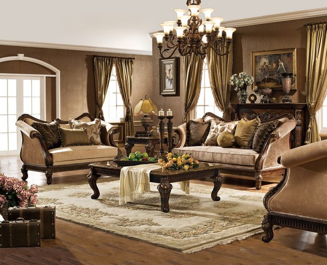Hampton living room set traditional living room for Traditional living room furniture