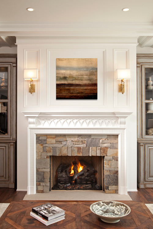 Love this fireplace - beautiful