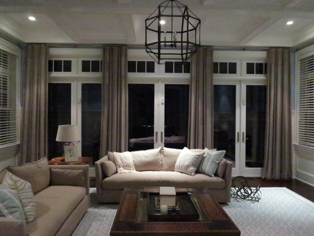 hampton's winter night dream - contemporary - living room - new ...