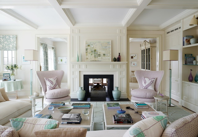 Hamptons House Beach Style Living Room New York By