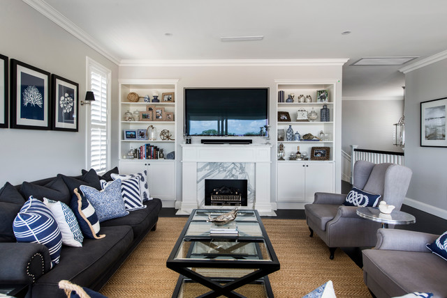 Hamptons Project Traditional Living Room Brisbane By A T Cabinet Makers