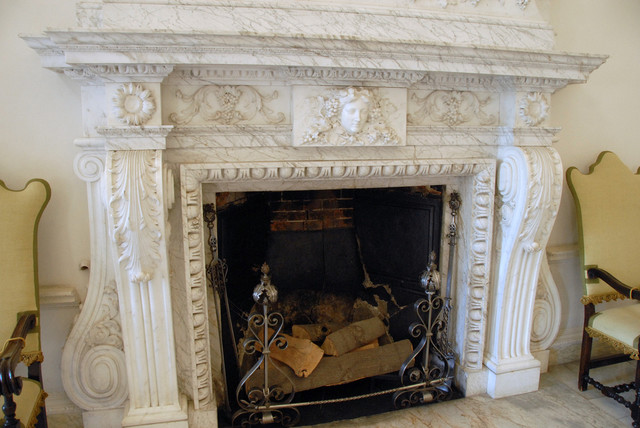 Hand Carved Fireplaces traditional-living-room
