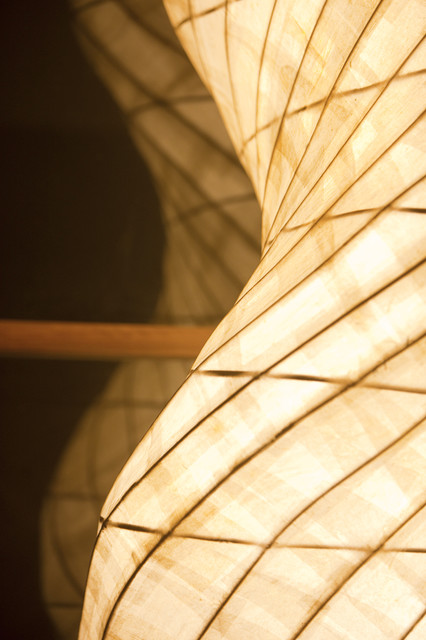 Hand-made lamps contemporary-living-room