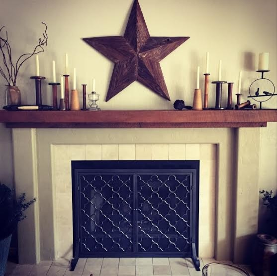 Handcrafted Mantels Rustic Living Room San Diego By