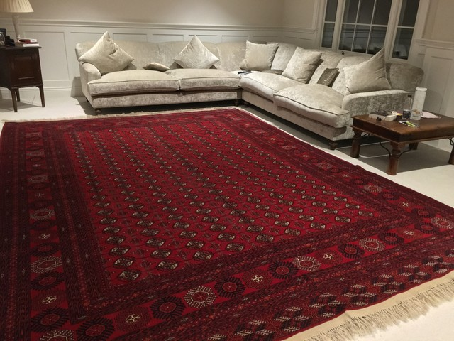 Handmade persian afghan rugs modern living room for Modern living room persian rug