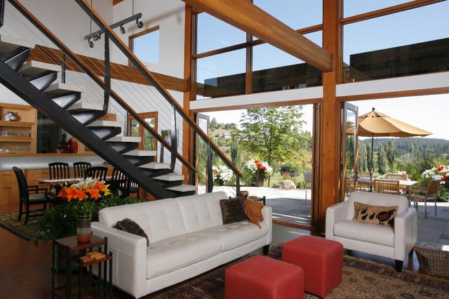 Hangman Valley Residence modern-living-room