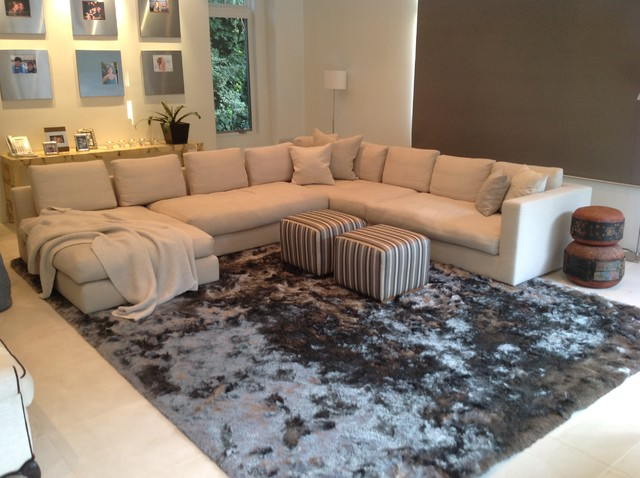 happy customers contemporary living room los angeles by modern rugs la. Black Bedroom Furniture Sets. Home Design Ideas