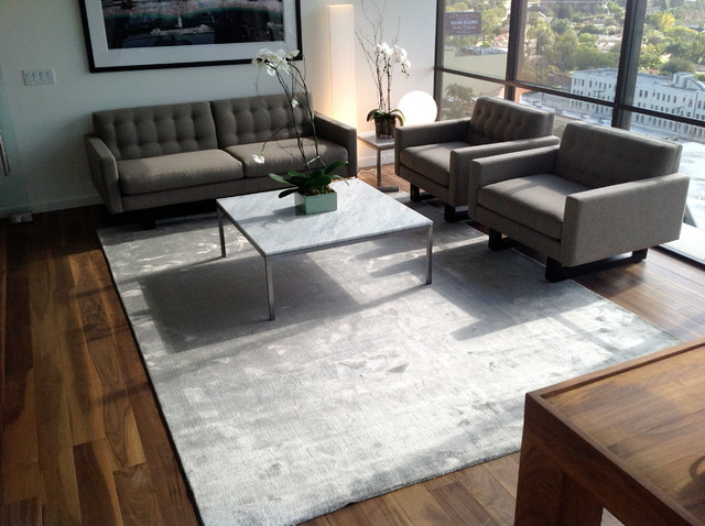 Happy customers contemporary living room los angeles for Modern living room rugs
