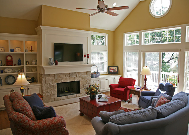 happy french country retreat - Traditional - Living Room - Milwaukee ...