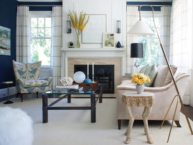 Harbor Blues contemporary-living-room