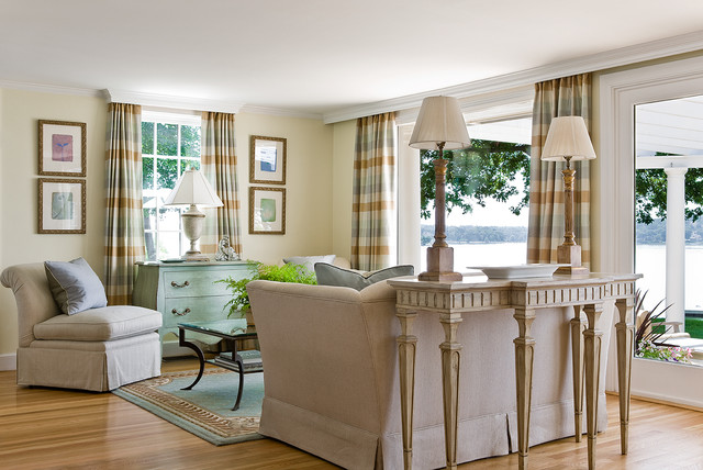 HARBOR VIEW COTTAGE Beach Style Living Room Boston By Beverly