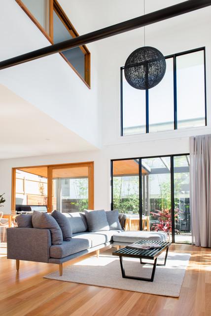 Harcourt Street Contemporary Living Room Brisbane