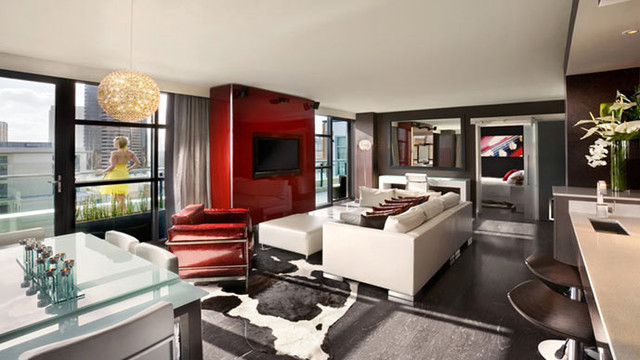 Hard Rock Suite Modern Living Room San Diego By