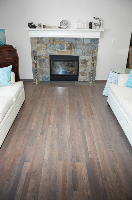 Hardwood Flooring Traditional Red Oak With Clic Grey Stain Swedish Finishtraditional Living Room Seattle