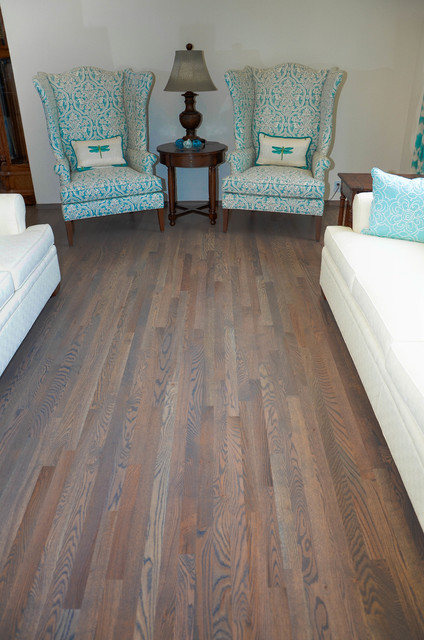 HARDWOOD FLOORING TRADITIONAL RED OAK WITH CLASSIC GREY  : traditional living room from www.houzz.com size 424 x 640 jpeg 89kB