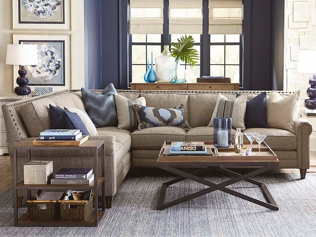 Harlan L Shaped Sectional Living Room by Bassett Furniture