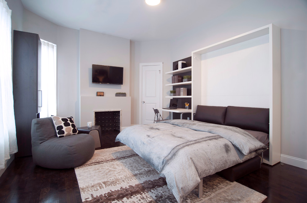 Small living room photo in New York