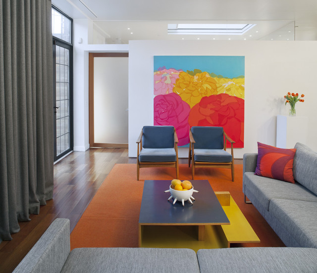 Harlem Residence Living Area contemporary-living-room