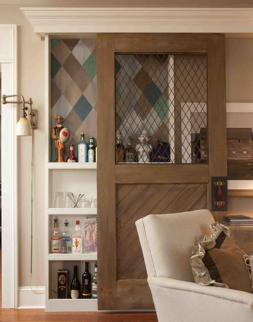 Harlequin Liquor Cabnet - Farmhouse - Living Room - other metro - by Lucianna Samu - Color and ...