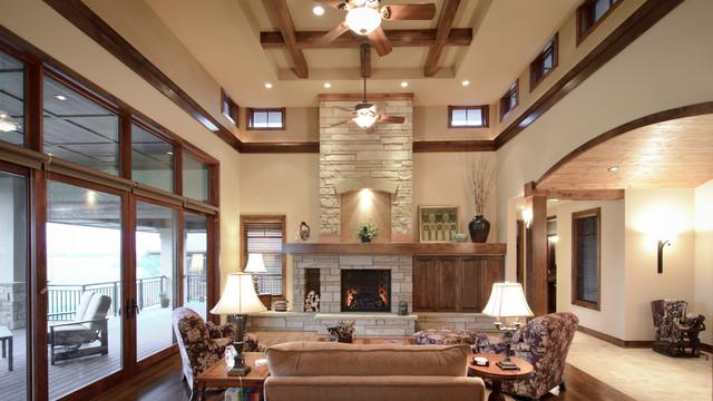 Harmony i traditional living room denver by david for David hueter home designs