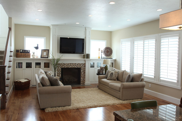 Harston Residence traditional-living-room
