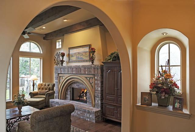 Hathaway Residence mediterranean-living-room